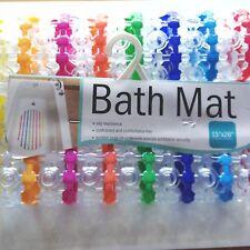 "SHOWER ANTI-SLIP MAT SUCTION CUPS BATH TUB SPA 15"" x 26"" MULTI COLOR Free US S&H"