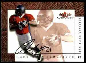 2001 Fleer Authority On Card Ladainian Tomlinson RC Auto Chargers