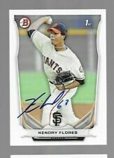 2014 Bowman KENDRY FLORES Signed Card autograph GIANTS MARLINS RC