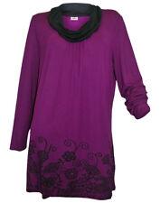 Joe Browns Longshirt Tunika Kleid T- Shirt  Gr. 48/50 beere/schwarz Neu 456042