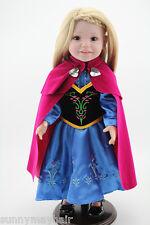 "17"" Lifelike Reborn Toddler Silicone Girl Blonde Hair Doll Gift Toy Handmade"