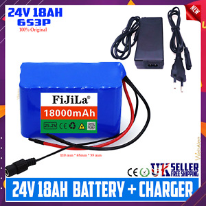 Lithium Ion Battery Pack for E-Bike Bicycle Rechargeable 24v 18ah with Charger