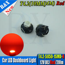 2 X Red T4 Neo Wedge 5050 SMD LED Twist Lock LCD Dash Cluster Switch Gauge VT VX