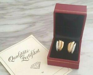 18kWhite&Yellow Gold Weight 10,8gr&Diamonds 0,56ct Stud Earrings W CERTIFICATE