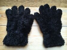 Belle femmes hiver chaud Gants/ours en peluche doux/chaud/Noir Couleur