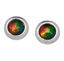 Korite Ammolite Sterling Silver 5mm Ammolite Stud Earrings