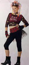 Adult Steampunk Skirt Black Goth Punk Rockabilly Lace Costume