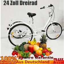 """24"""" Dreirad für Erwachsene 3 Rad Erwachsenendreirad Fahrrad Lastenfahrrad Korb"""