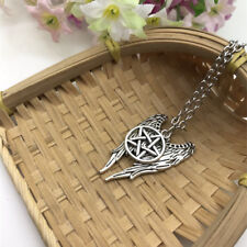 Pentagram Necklace Pendant Jewelry Pentagram Pendant Couple Castiel Wing Angel