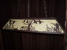 X LARGE Laser cut Steel DUCK HUNTER DOG SCENE Pool Table Light Lamp hunt cabin