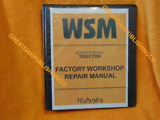 KUBOTA M6060 M7060 Tractor SERVICE Workshop repair manual in Binder
