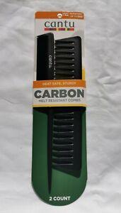 Cantu Carbon Melt Resistant Combs set of 2 - Australia Stock