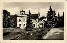 Lázně Mšené Mscheno Tschechien alte s/w Postkarte 1950 gelaufen Říp-Balneo Haus