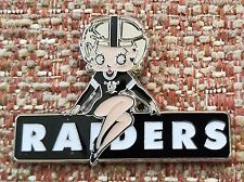 Oakland Raiders Betty Boop Lapel Pin