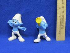 2013 McDonalds Smurf Movie Figurine Crazy & Harmony Lot of 2 Peyo
