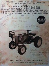 Sears H10p H8p Suburban 91760644 David Bradley Db Tractor Owner Amp Parts Manual