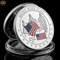1777 USA History of Silver Glory Commemorative Betsy Ross Flag Coin Collection