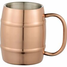 4 QTY set Moscow Mule/OR BEER Barrel Mugs HOME BAR PARTY 14oz w/free bar tool!