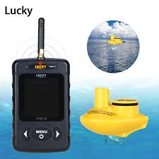 Wireless Fish Finder Underwater 40M Sonar Depth Sounder Alarm River Fishing P6