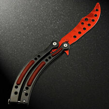 Practice Balisong Metal Butterfly Tactical Combat Trainer Knife&Sheath 1p Ni