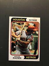 1974 Topps Doug Rader Autographed Card Houston Astros