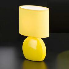 Honsel Luce da tavolo Samba 1-flg ceramica Schermo Giallo Interruttore comodino