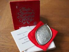1974 TOWLE Sterling Christmas Ornament Pendant Medallion 12 days 4 Calling Birds