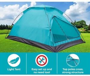 ✅ New Outdoor Camping Tent Dome for 3 Person w/Carry Bag Light Weight Teal Color
