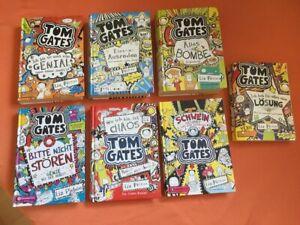6 gebundene Tom Gates Bücher + 1 Taschenbuch - guter Zustand - Schnäppchen -