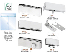 CRL Satin Anodized North American Patch Door Kit for Double Doors for Use wi...