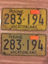 Vintage Late 50's/early 1960's Maine Vehicle License Plates, Tag, 283-194