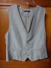 XL Men's Theory Cotton Vest Gray Mini-Check Tipson Ryder Style