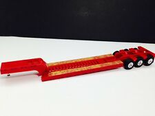HO 1/87 Promotex # 5489 Heavy Equipment Semi Trailer only - Red 3 axle