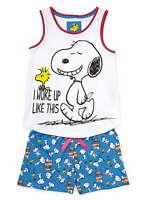 Girls Snoopy Shortie Pyjamas Ages 7 8 9 10 11 12 13 14 15 16 Years Short Pj