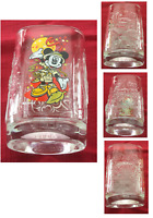 VINTAGE McDonald's Mickey Mouse Square Drinking Glass Tumbler  2000