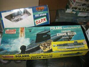 Renwal Model Kit-Submarine-SSB(N) 608 Ethan Allen - #652 - 1/200 scale-Open Box