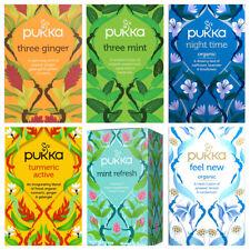 Pukka Herbal Organic Teas Tea - 20 Sachets Per Pack - Full Variety Available NEW