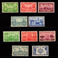 785-794 Army-Navy set of 1936-1937 Mint, Original Gum, Never Hinged