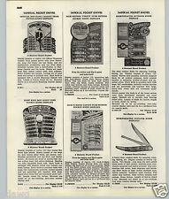 1951 53 PAPER AD Hammer Jack O Matic Press Push Button Pocket Knife Knives