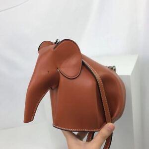 Mini Elephant Crossbody Bag- Brown