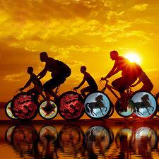 Programmable RGB 64 LED DIY Bike Cycling Bicycle Wheel Tire Spoke Light Rainbow
