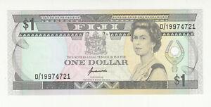 Fiji 1 dollar AUNC QEII @ low start