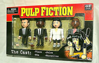 NECA 4 Mini Figure Set Pulp Fiction The Cast New NOS Box 2004 Vince Mia Marsllus