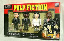 NECA 4 Mini Figure Set Pulp Fiction The Cast New NOS Box 2004 Vince Mia Marsllus