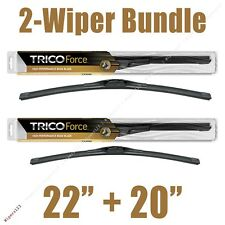 "2-Wipers: 22"" + 20"" Trico Force All-Season Beam Wiper Blades - 25-220 25-200"