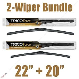 """2-Wipers: 22"""" + 20"""" Trico Force All-Season Beam Wiper Blades - 25-220 25-200"""