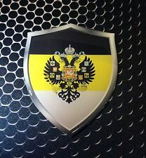 """Russia Shield Imperial Flag Proud Domed Decal Emblem Car Sticker 3D 2.3""""x 3"""""""