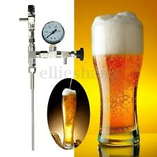 40cm Ber Gun Counter CO2 Bottle Filler Tap + Pressure Gauge For Homebrew Brew