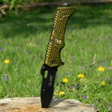US ARMY Licensed Spring Assisted Open RESCUE Folding Pocket Military Blade Knife