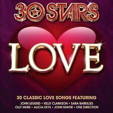 30 STARS: LOVE (OLLY MURS, SHAKIRA, DIDO, ONE DIRECTION,...)  2 CD NEU